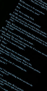 Blue Night in the Heart of the West, image of a page of playtext (published by Nick Hern Books in 1995