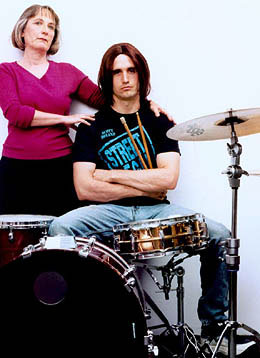 Ellen LeCompte and Pete Simpson in Drummer Wanted by Richard Maxwell, NYC Players 2002