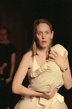 Hattie Morahan as Iphigenia in Iphigenia at Aulis (National Theatre: Lyttelton, 2004, dir. Katie Mitchell), photographer Ivan Kyncl