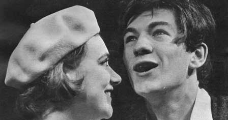 Ian McKellen and Gillian Martell in Their Very Own and Golden City, Royal Court, May 1966