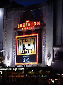 the pitiful We Will Rock You (Dominion Theatre, London)